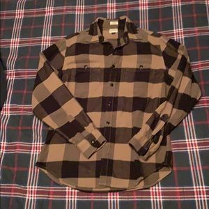 J Crew square flannel button up shirt